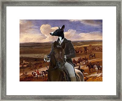 Whippet  Art Canvas Print Framed Print