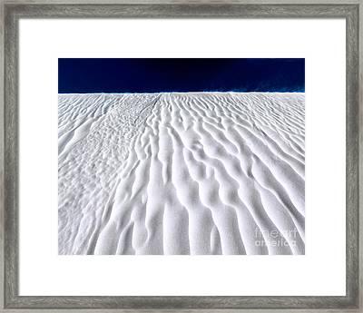 White Sands Framed Print by Julian Cook