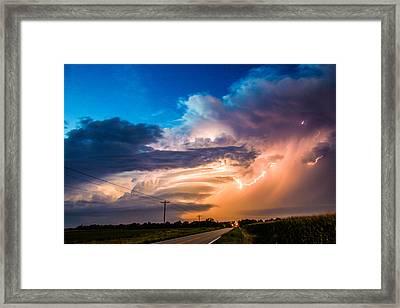 Wicked Good Nebraska Supercell Framed Print