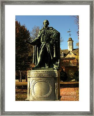 William And Mary College With Wren Building Framed Print