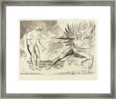 William Blake British, 1757 - 1827, The Circle Framed Print by Quint Lox