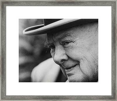 Winston Churchill Framed Print by Retro Images Archive