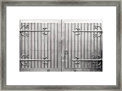 Wooden Gate Framed Print by Tom Gowanlock