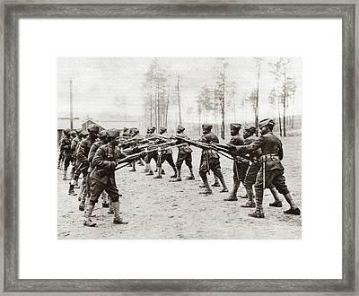 World War I Training Framed Print by Granger
