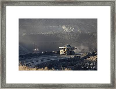 Wyoming Coal Mine Framed Print