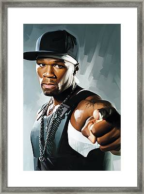 50 Cent Artwork 2 Framed Print by Sheraz A