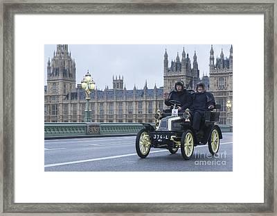 London To Brighton Veteran Car Rally Framed Print