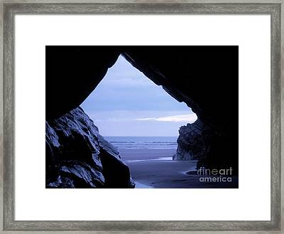 50 Shades Of Blue Framed Print