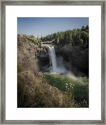 50 Shades Salish Lodge Framed Print by Scott Campbell