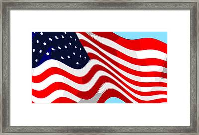 50 Star American Flag Closeup Abstract 9 Framed Print