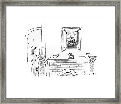 That's Not A Portrait - It's Actually Leonard Framed Print