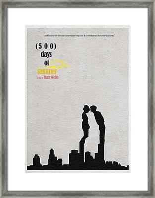 500 Days Of Summer Framed Print by Ayse Deniz