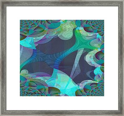 502 - Beneath The  Sea Framed Print by Irmgard Schoendorf Welch
