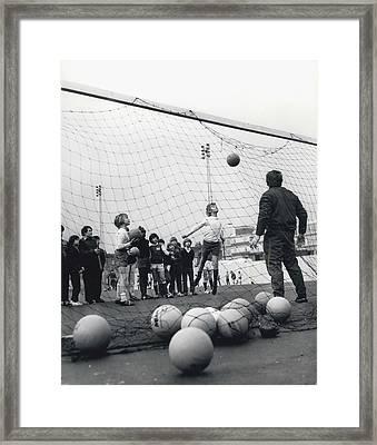 London Schoolboys Framed Print