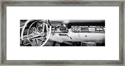 50s Cadillac Dashboard Framed Print