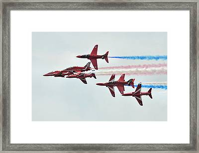 50th Anniversary 'red Arrows' Framed Print by Tim Beach