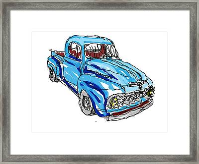 51 Ford Truck Framed Print by Paulo  PtBarreto