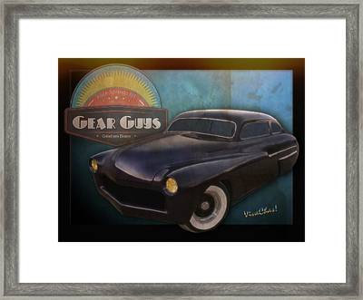 51 Mercury Gear Guys Car Club Alice Springs Nt Framed Print
