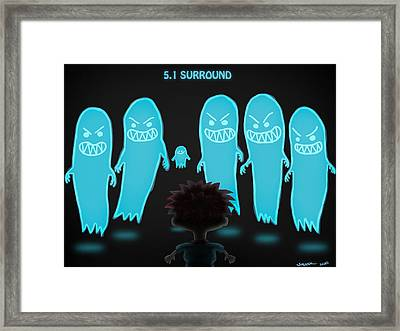 5.1 Surround Framed Print