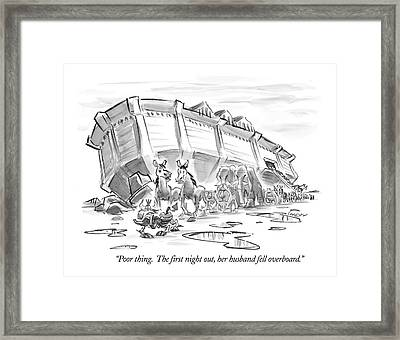 Poor Thing.  The First Night Framed Print