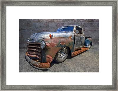 52 Chevy Truck Framed Print by Debra and Dave Vanderlaan