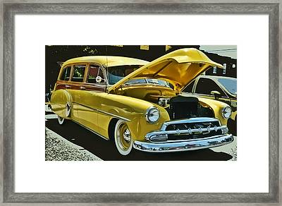 Framed Print featuring the photograph '52 Chevy Wagon by Victor Montgomery