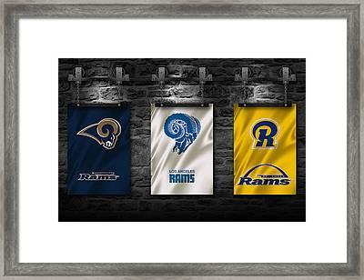 St Louis Rams Framed Print by Joe Hamilton