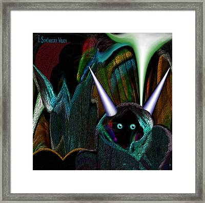 527 - Little Alien Being Framed Print by Irmgard Schoendorf Welch