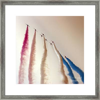 Red Arrows Framed Print by Angel  Tarantella
