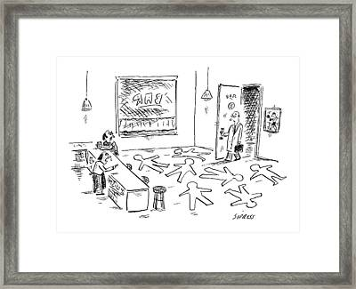 New Yorker March 16th, 2009 Framed Print by David Sipress