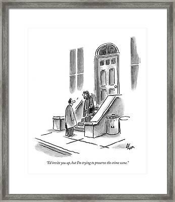 I'd Invite Framed Print