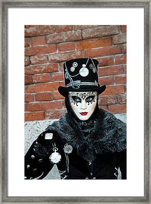 Venice At Carnival Time, Italy Framed Print