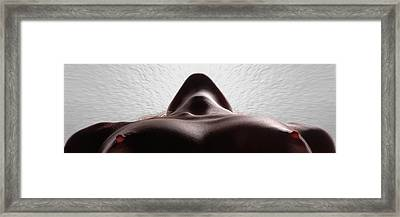 5338 Radiating Power A Fine Art Nude By Chris Maher 1 To 3 Ratio Framed Print by Chris Maher