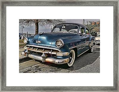 '54 Chevy Framed Print by Victor Montgomery