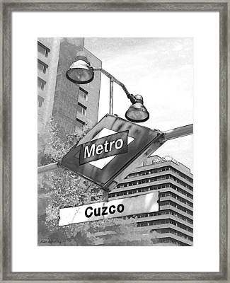 54 Cuzco Metro Madrid Framed Print by Alan Armstrong