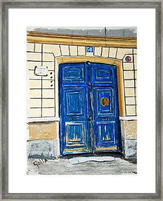 54 Rue Lepic  Framed Print