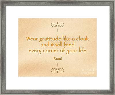 54- Rumi Framed Print