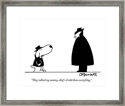 They Rubbed My Tummy Framed Print