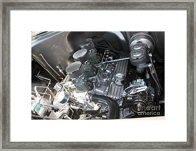 55 Bel Air Engine-8202 Framed Print by Gary Gingrich Galleries