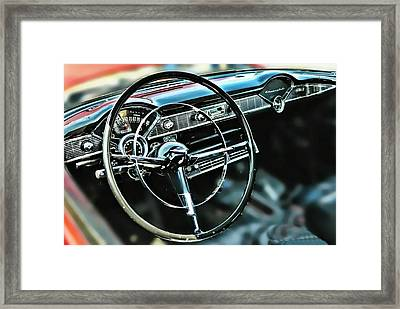 '55 Dash Framed Print by Victor Montgomery