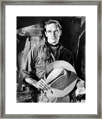 55 Days At Peking, Charlton Heston, 1963 Framed Print by Everett