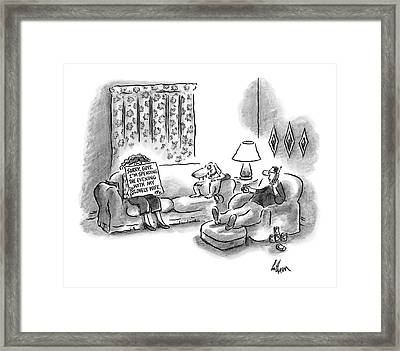 New Yorker March 28th, 2005 Framed Print by Frank Cotham