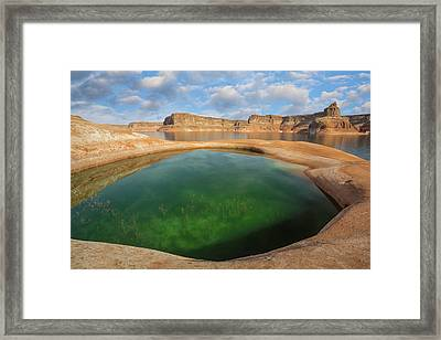 Usa, Utah, Glen Canyon National Framed Print
