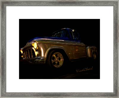 56 Chevy Pickup An Its A Baad One Framed Print