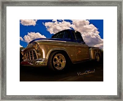 56 Chevy Pickup B4 Sundown Framed Print