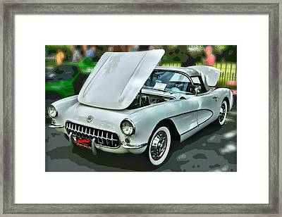 Framed Print featuring the photograph '56 Corvette by Victor Montgomery