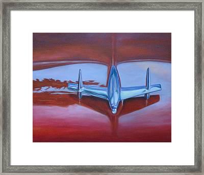 '56 Red Framed Print