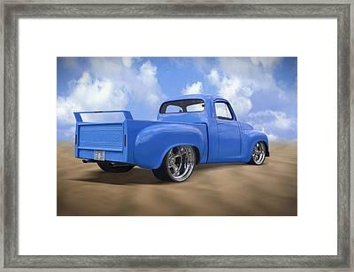 56 Studebaker Truck Framed Print by Mike McGlothlen