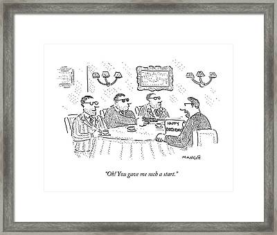 Oh! You Gave Me Such A Start Framed Print