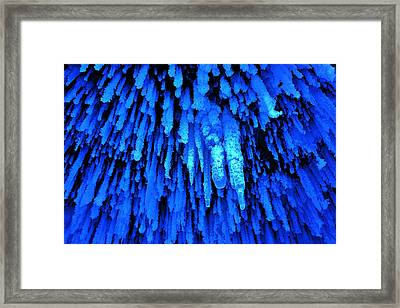 Apostle Island Sea Caves - February 2014   Framed Print by Carol Toepke